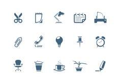(1) ikony biurowe serie ilustracja wektor