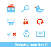 (1) ikony część ustalona elegancka strona internetowa Fotografia Stock