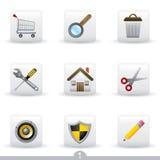 (1) ikony serii cechy ogólnej sieć royalty ilustracja