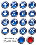 (1) ikony ustawiają stronę internetową ilustracji