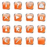 1 ikony zbioru pomarańczę sieci Zdjęcia Royalty Free