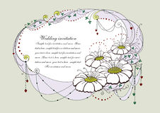 1 inbjudanbröllop Royaltyfri Foto