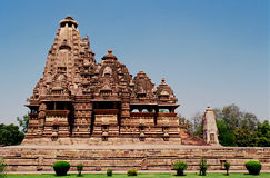1 india khajuraho Royaltyfria Bilder