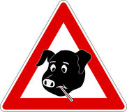 1 influensaswine Arkivbild