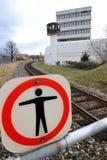 1 ingen järnväg station Royaltyfri Fotografi