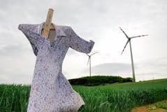 1 ingen scarecrowwindmill Fotografering för Bildbyråer