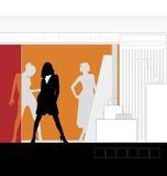1 interior shoppar royaltyfri illustrationer