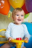 1 jaarverjaardag van de jongen van de baby. Stock Foto