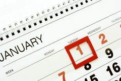 1. Januar Stockfoto