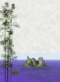 1 japanska serenity för liggandemoodshav stock illustrationer