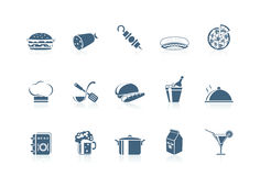(1) jedzenia ikon flecika serie royalty ilustracja