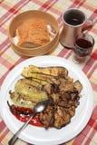 (1) jedzenie piec na grillu warzywa Zdjęcie Royalty Free