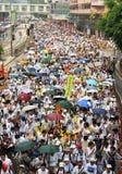 1 Juli 2004 Hongkong Maart Stock Foto's