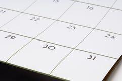 1 kalender Royaltyfria Bilder