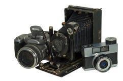(1) kamery trzy Zdjęcia Royalty Free