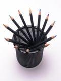 1 kan kulöra blyertspennor Royaltyfri Bild
