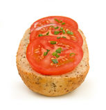 1 kanapki szczypiorek pomidor Fotografia Stock