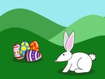 1 kanin easter Royaltyfri Illustrationer