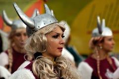 1 karnevalflickamaskering Royaltyfria Foton