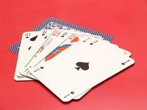 1 karty Zdjęcie Stock