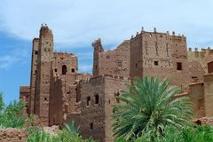 1 kasbah morocco Arkivbilder