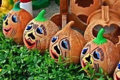 1 keramik halloween Arkivbilder