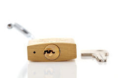 1 key padlock Arkivfoton