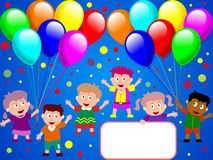 1 kids party time διανυσματική απεικόνιση