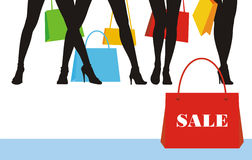 1 kläderförsäljning royaltyfri illustrationer