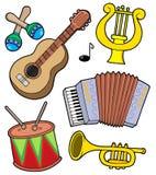 (1) kolekci instrumenty muzyczni Zdjęcia Royalty Free