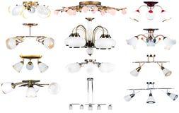 (1) kolekci odosobnione lampy Fotografia Royalty Free