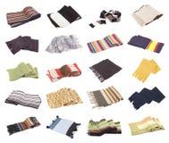 (1) kolekci szaliki ustawiają Zdjęcia Stock