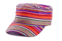 (1) kolorowego kapeluszu odosobniony biel Zdjęcie Royalty Free