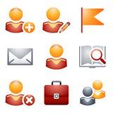 (1) koloru ikon strona internetowa Obrazy Stock