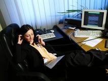 1 kontorssamtal Fotografering för Bildbyråer