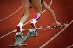 1 korta avstånd sprintar start Arkivfoto