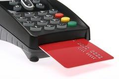 1 kortkrediteringsterminal Arkivbild