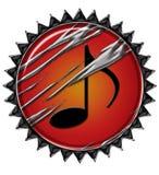 1 krąg kreatywnego muzyki Obrazy Royalty Free