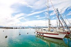 (1) krajobrazowy Lausanne ouchy portowy Switzerland Fotografia Stock