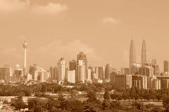 1 Kuala Lumpur horisont arkivfoton