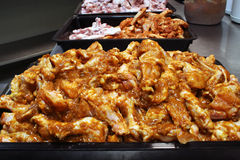 1 kurczaka preperation skrzydła. Fotografia Stock