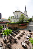 1 kyrkliga borggård singapore Arkivfoton