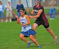 1 lacrosse девушок действия Стоковое Изображение RF