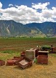 1 lantgårdplats arkivfoton