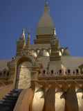 1 laos stupa Royaltyfria Bilder