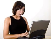 1 laptop shocker Στοκ Εικόνες