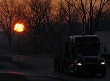 1 lastbilsförare Arkivbild