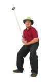 1 leka för golfman Arkivbilder
