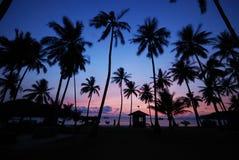 1 lever de soleil de la MU de ko d'île d'angthong Images libres de droits