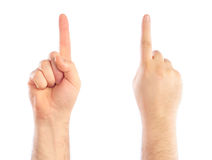 (1) liczenie wręcza samiec liczbę Obrazy Stock